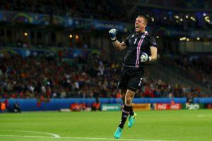 El gol del empate fue celebrada por todo Islandia Foto:Getty Images. Imagen Por: