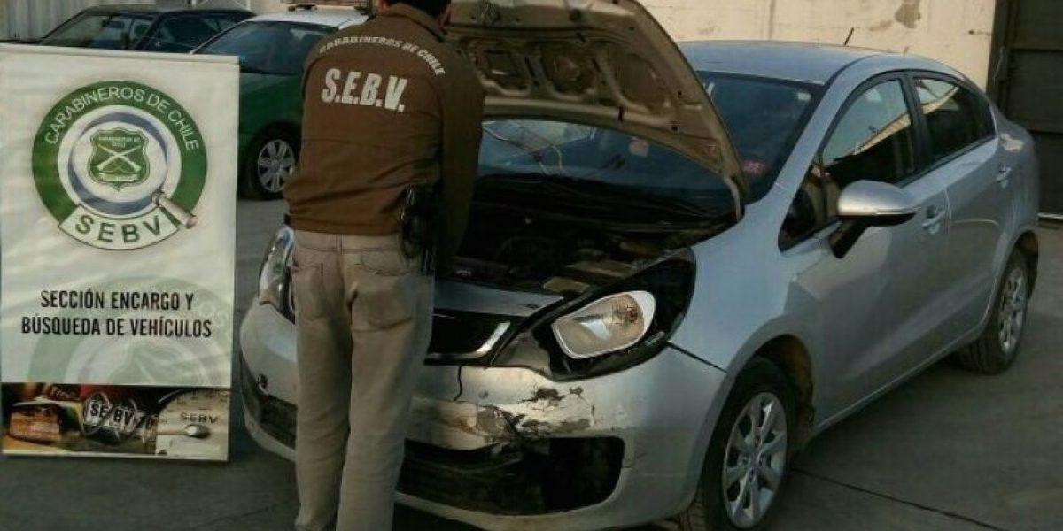 Carabineros recuperó en Coquimbo auto robado tras portonazo en La Florida
