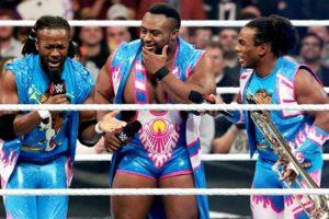 En una lucha fatal de cuatro esquinas, The New Day defiende el Campeonato de Parejas Foto:WWE. Imagen Por:
