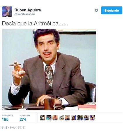 Los tuits con los que sorprendió Rubén Aguirre en redes sociales
