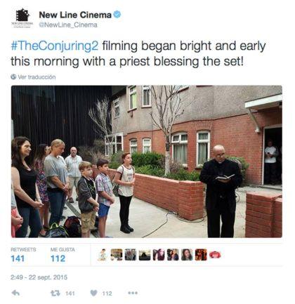La producción pidió la bendición de un sacerdote para realizar el filme.