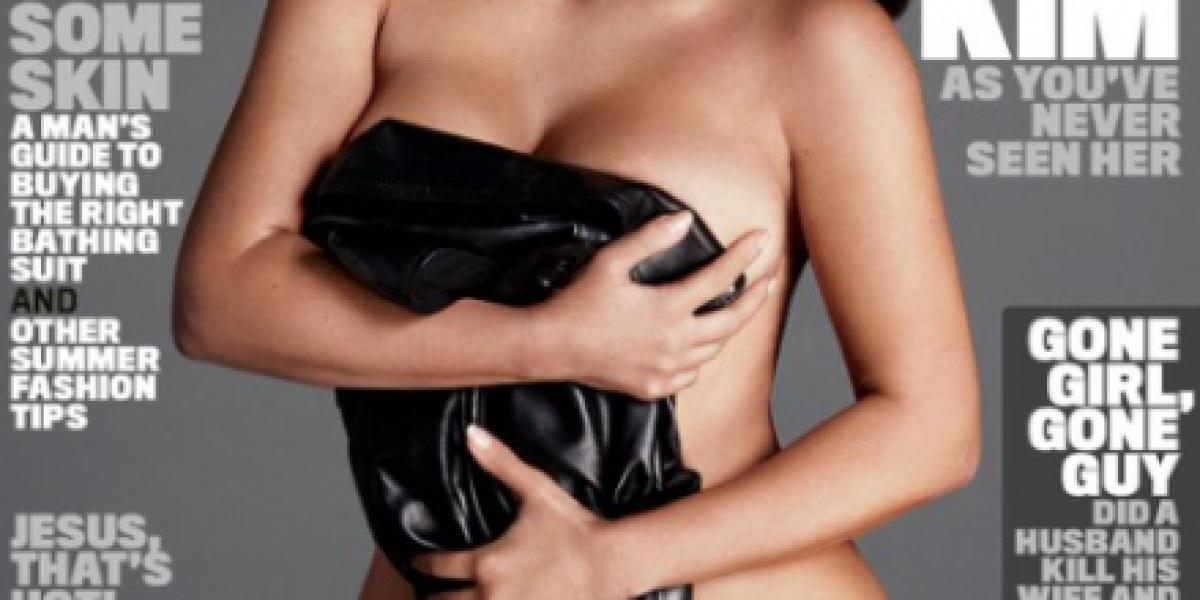 Kim Kardashian West posó más sensual que nunca para la revista GQ