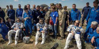 Tres astronautas regresan a la Tierra  tras seis meses en el espacio