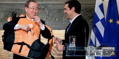 Ban Ki-moon pide en Grecia el cese inmediato de la detención de migrantes