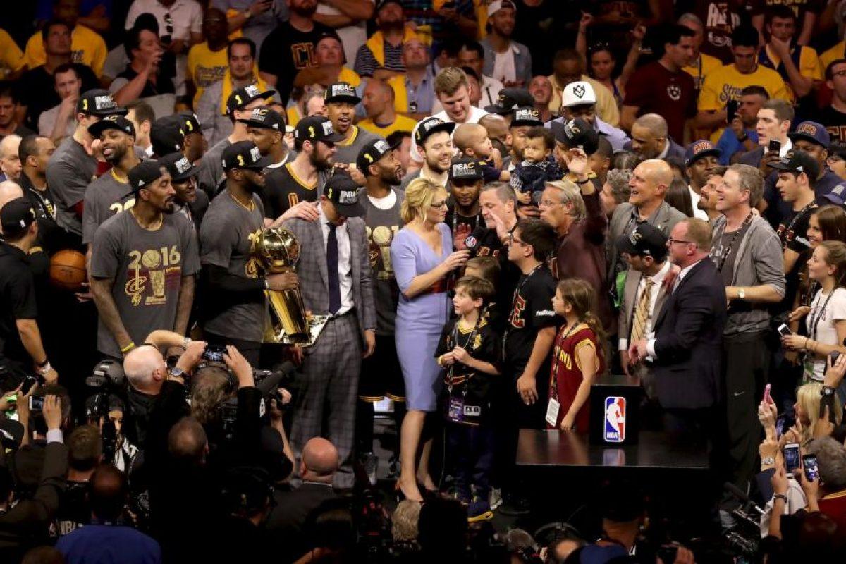 El título fue festejado con todo por los Cavs Foto:Getty Images. Imagen Por: