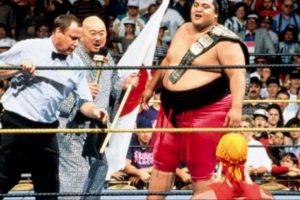 6. Yokozuna. Ganó y perdió el título en Wrestlemania IX en 1993 Foto:WWE. Imagen Por: