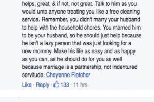"""""""Él vive ahí también. Si te ayuda, bien. Si no, no está bien""""- Foto:Facebook. Imagen Por:"""