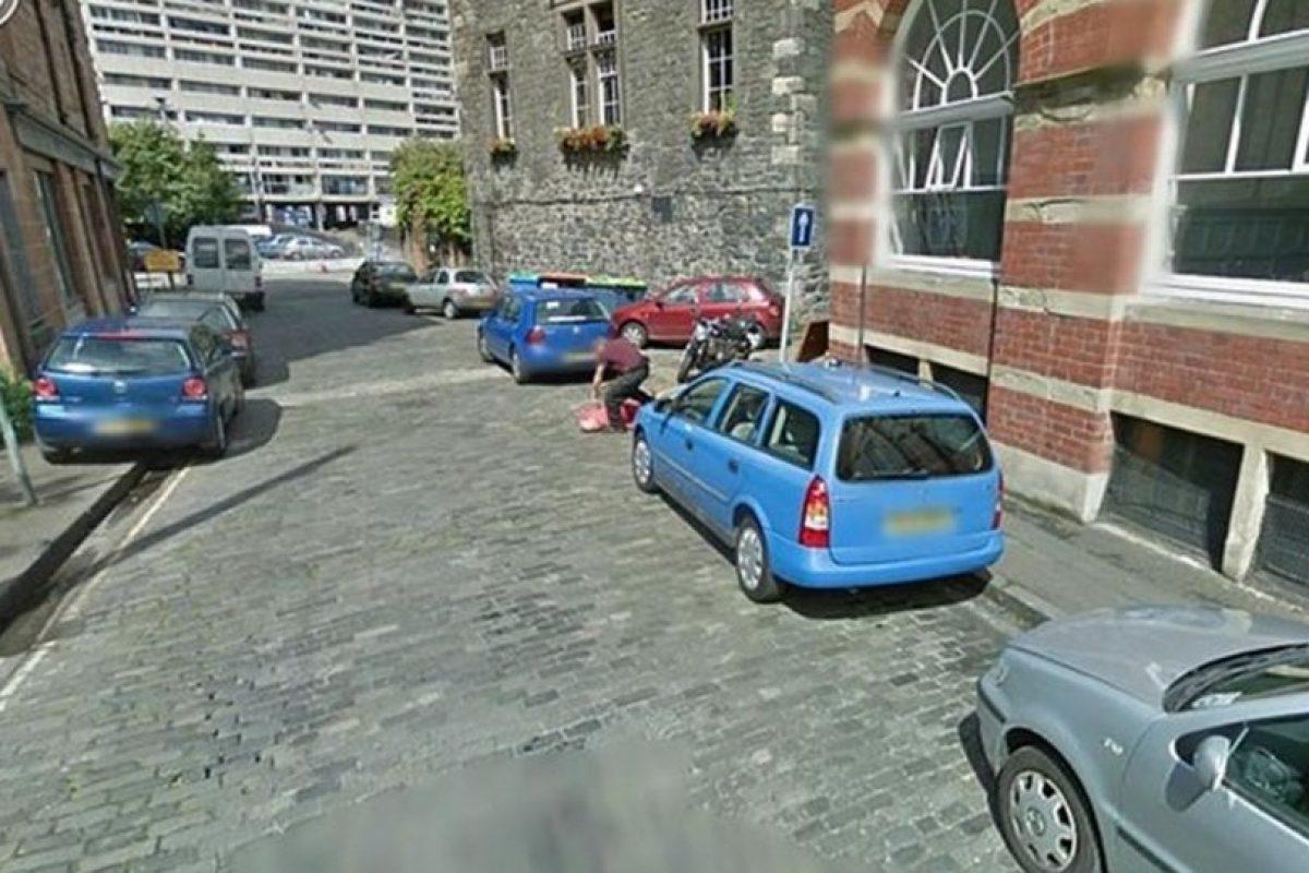 """Esta imagen se trata de una broma de muy mal gusto para """"Street View"""".. Imagen Por:"""