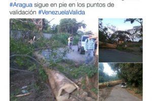 Y la obstaculización de caminos, igual acusan al gobierno de Maduro Foto:Twitter.com/RevocaloYA. Imagen Por: