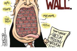 """""""Es tan pobre que solamente puede pagarse un muro del tamaño de su boca… algo que no sería mala idea"""" Foto:Twitter.com. Imagen Por:"""