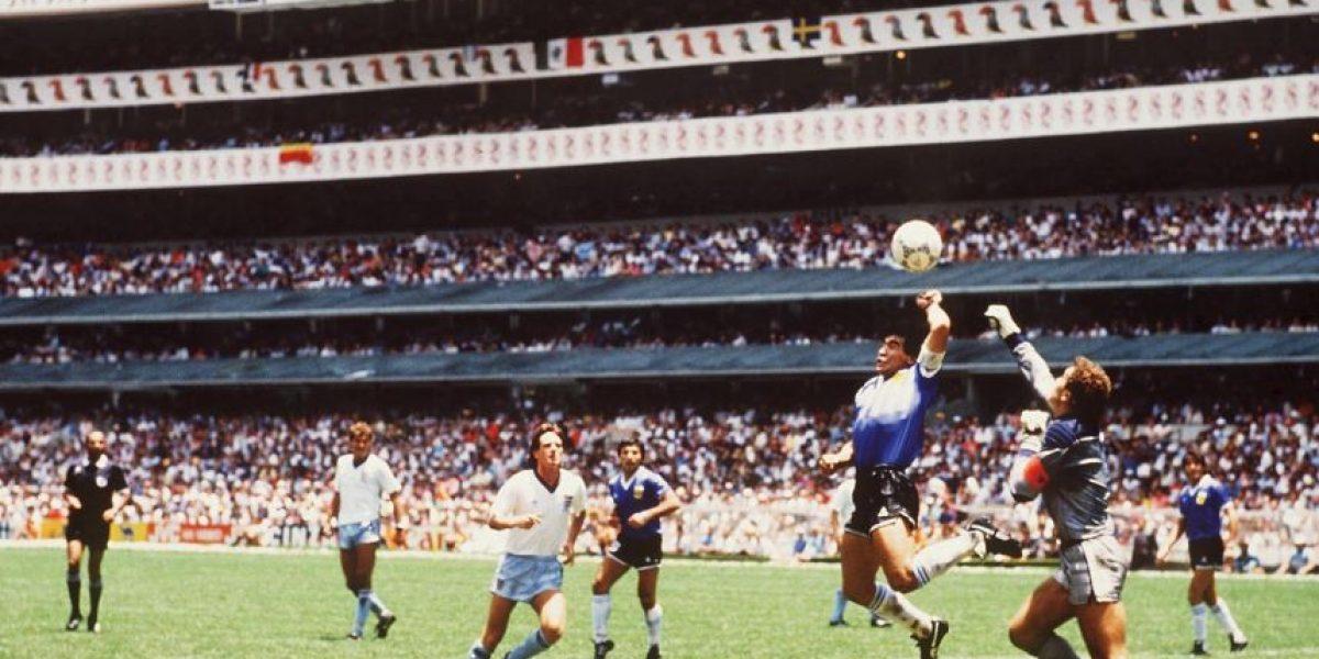 Diego Maradona y 7 goles anotados con la mano