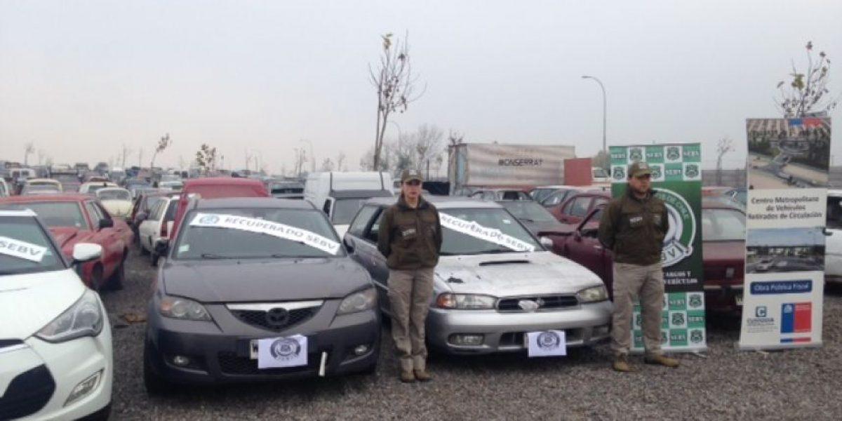 Más de 170 vehículos con encargo por robo se encontraban en aparcadero de Quilicura