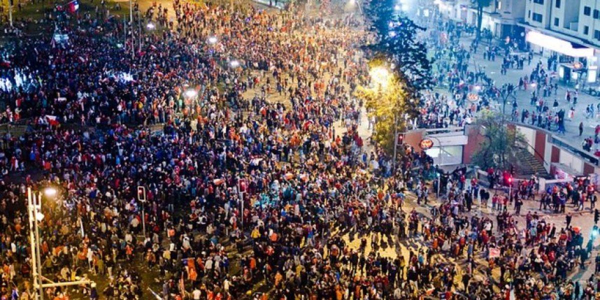 Anuncian medidas en Plaza Italia en caso de que Chile sea Campeón de América