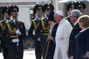 El Papa en su último viaje oficial. Foto:Getty Images. Imagen Por: