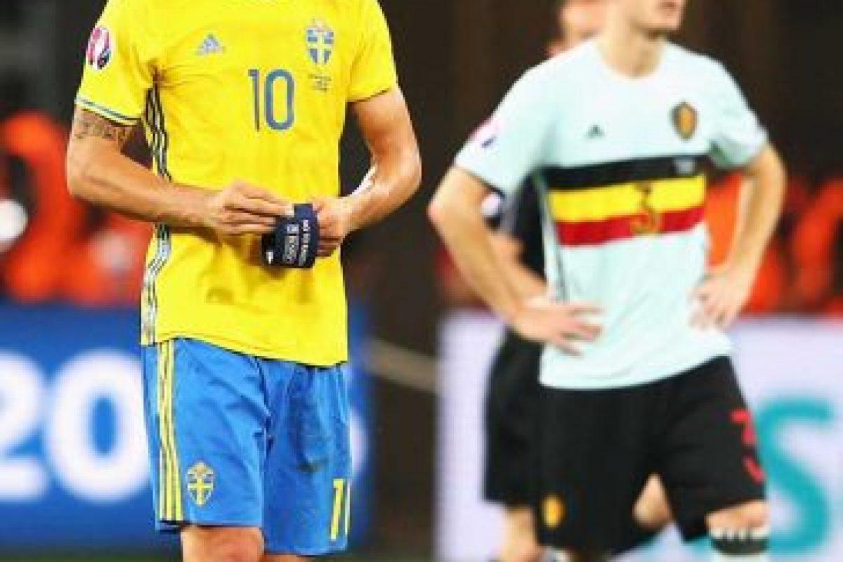 """El último partido de """"Ibra"""" con Suecia fue ante Bélgica, en la fase de grupos de la Euro 2016. Foto:Getty Images. Imagen Por:"""