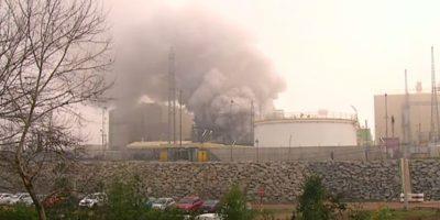 Autoridades e incendio en central Nehuenco: