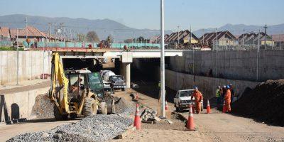Autoridades realizan inspección a obras de Eje Lo Marcoleta en Quilicura