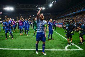 Islandia sorprendió a todos en la Eurocopa y eliminó a Inglaterra en octavos de final Foto:Getty Images. Imagen Por:
