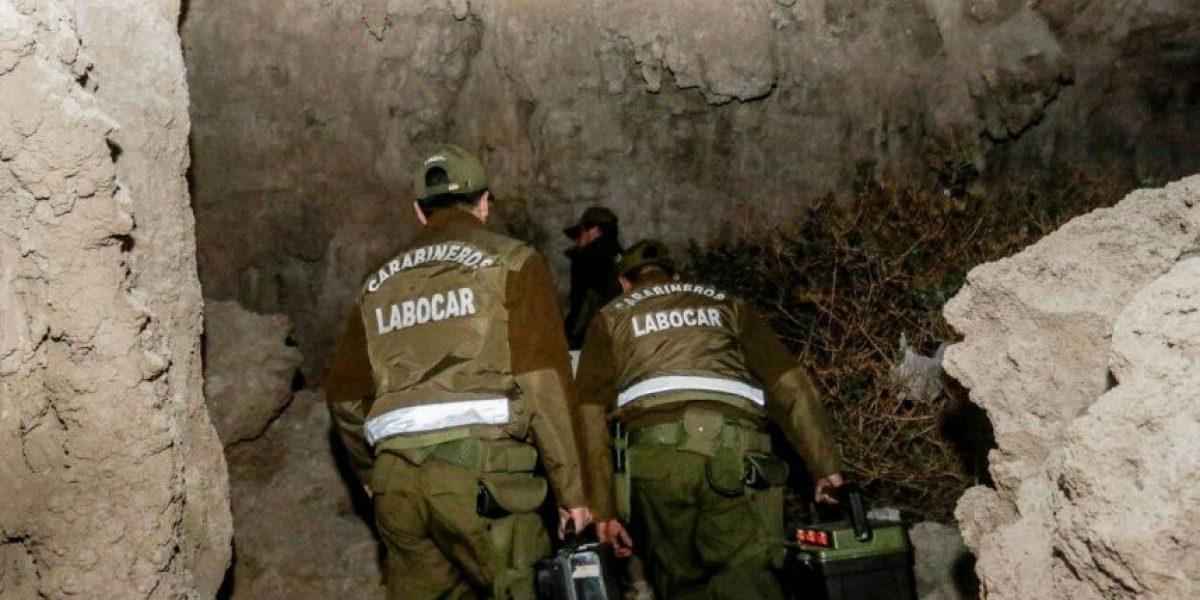 Enigma policial: hallan cuerpo calcinado, encadenado y torturado en cueva de Calama