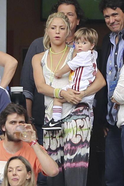 Las reacciones de Shakira ante la derrota de España en la Euro