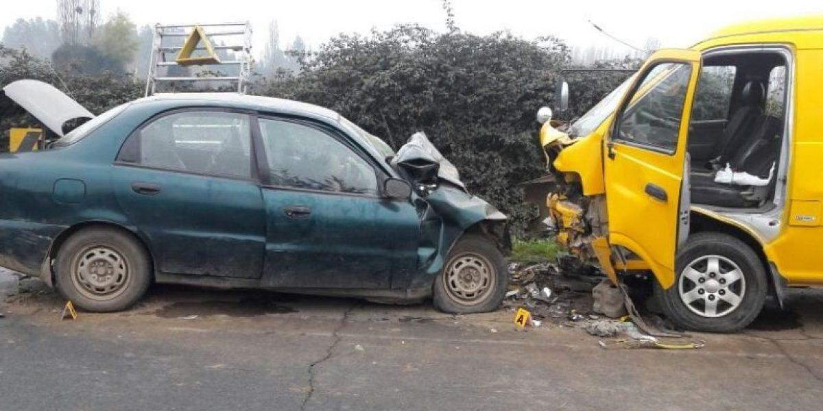 Violento choque frontal deja dos víctimas fatales en Doñihue