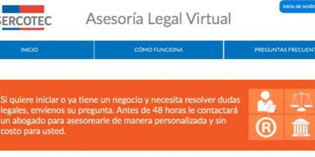 Sercotec ofrece programa de asesoría legal virtual para pymes