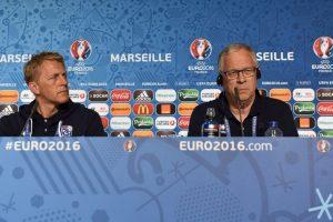 Lagerback y Hallgrimson hacen dupla técnica en la Eurocopa Foto:Getty Images. Imagen Por: