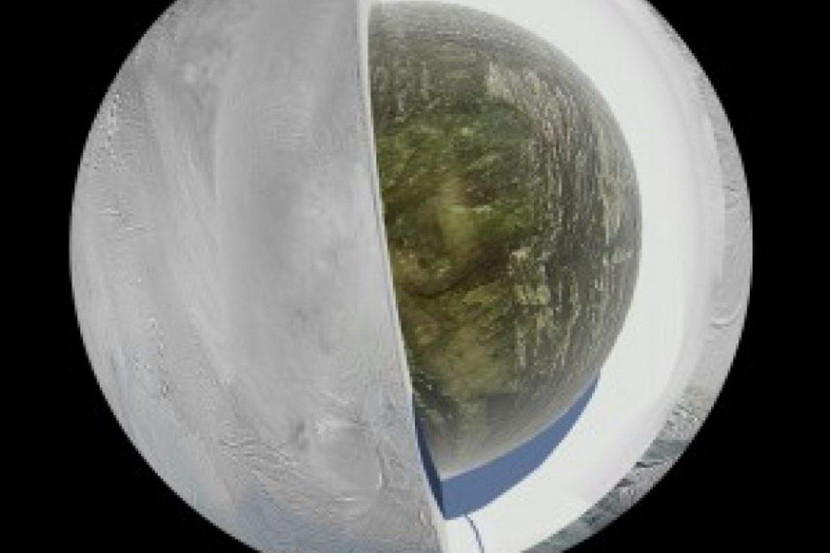 Recreación del interior de Encélado según el hallazgo proporcionado por Cassini. Foto:Nasa. Imagen Por: