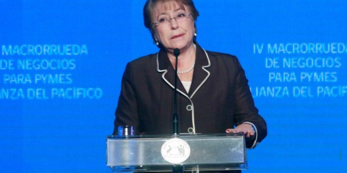 Bachelet destacó a través de Facebook la importancia de la Alianza del Pacífico