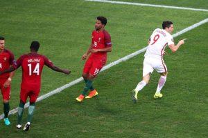 El delantero abrió la cuenta cuando se jugaban un minuto y cuarenta segundo del partido por cuartos de final ante Portugal Foto:Getty Images. Imagen Por: