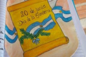 La imagen fue captada el Día de la Bandera, pero recién se comenzó a hacer viral Foto:Facebook.com/Escuela-N-948. Imagen Por: