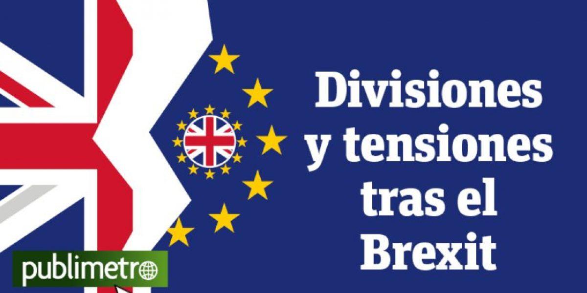 Infografía: divisiones y tensiones tras el Brexit