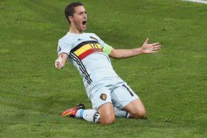 Eden Hazard era la gran preocupación de Bélgica, pero se recuperó de sus problemas musculares y estará ante Gales Foto:Getty Images. Imagen Por: