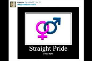 """Millones de personas son las que piden a través de las redes sociales celebrar un """"Día del Orgullo Heterosexual"""". Foto:Reproducción Twitter. Imagen Por:"""