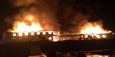 Gran incendio destruye Centro de Entrenamiento Olímpico de Curauma