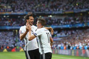 Alemania, en tanto, goleó a Hungría en los octavos de final Foto:Getty Images. Imagen Por:
