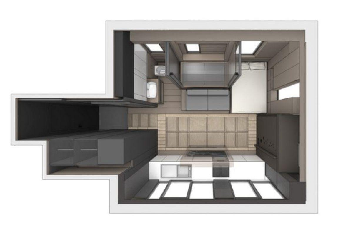 El despacho de arquitectos y diseñadores LAAb, en Hong Kong, convirtió este pequeño departamento en un espacio completamente equipado y habitable. Foto:LAAB. Imagen Por:
