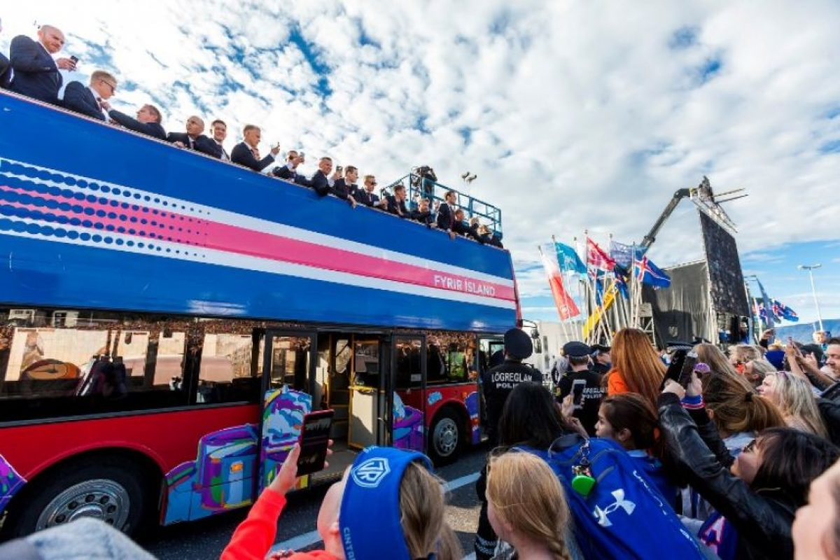 En su debut en la Eurocopa, los islandeses llegaron a cuartos de final Foto:AFP. Imagen Por: