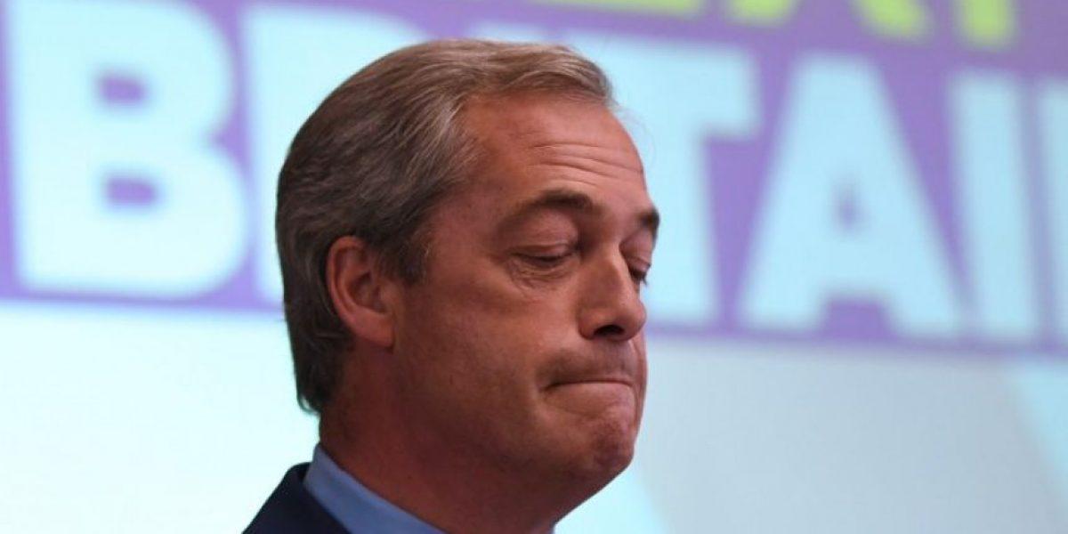 El defensor del Brexit Nigel Farage dimite como líder del Ukip