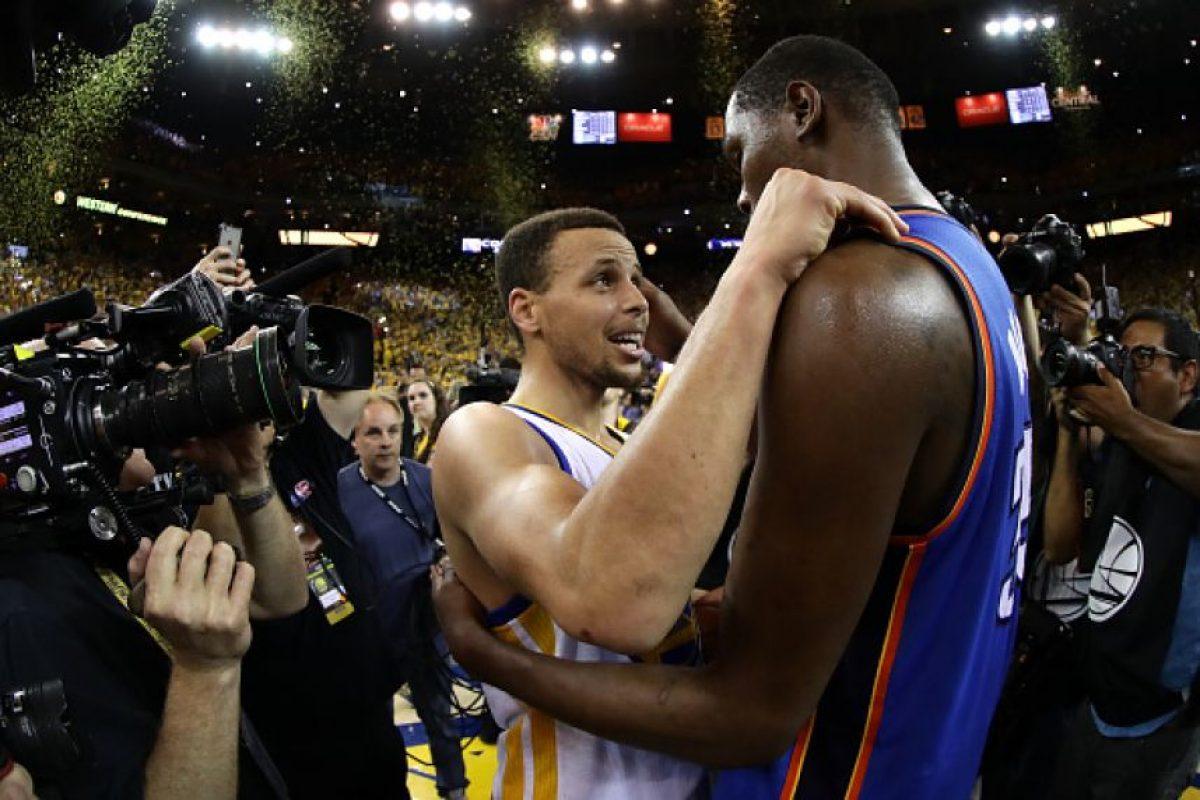 Dos de los mejores jugadores de la NBA se encontrarán en Golden State Foto:Getty Images. Imagen Por:
