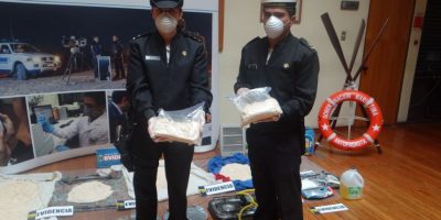 Armada retira de circulación 330 mil dosis de pasta base de cocaína tras operativo en Antofagasta