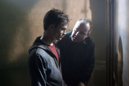 Daniel Radcliffe en las grabaciones de