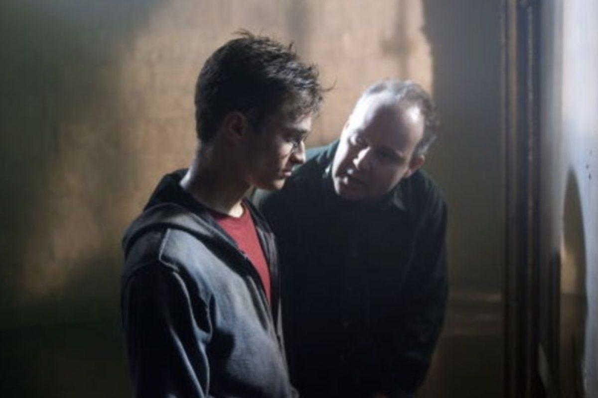 """Daniel Radcliffe en las grabaciones de """"Harry Potter y la Orden del Fénix"""". Foto:IMDB. Imagen Por:"""