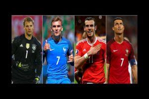 Los 4 líderes de los semifinalistas de la Euro 2016 Foto:Getty Images. Imagen Por: