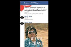 La respuesta se hizo viral. Foto:vía Facebook/ Metro Bistro. Imagen Por: