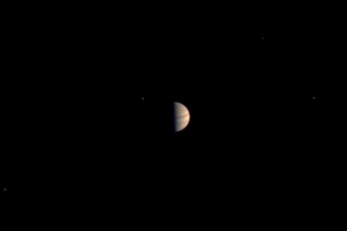 Estas fueron las últimas imágenes que tomó antes de llegar a la órbita de Júpiter Foto:NASA. Imagen Por: