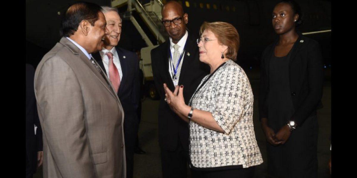 Presidenta Bachelet ya está en Guyana para la XXXVII Conferencia de la Caricom