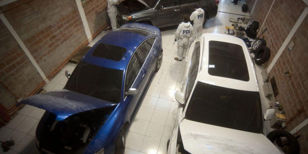 PDI descubre en Franklin acopio de vehículos de lujo robados en