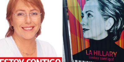 ¿Hillary Clinton le copia la campaña presidencial a Michelle Bachelet?