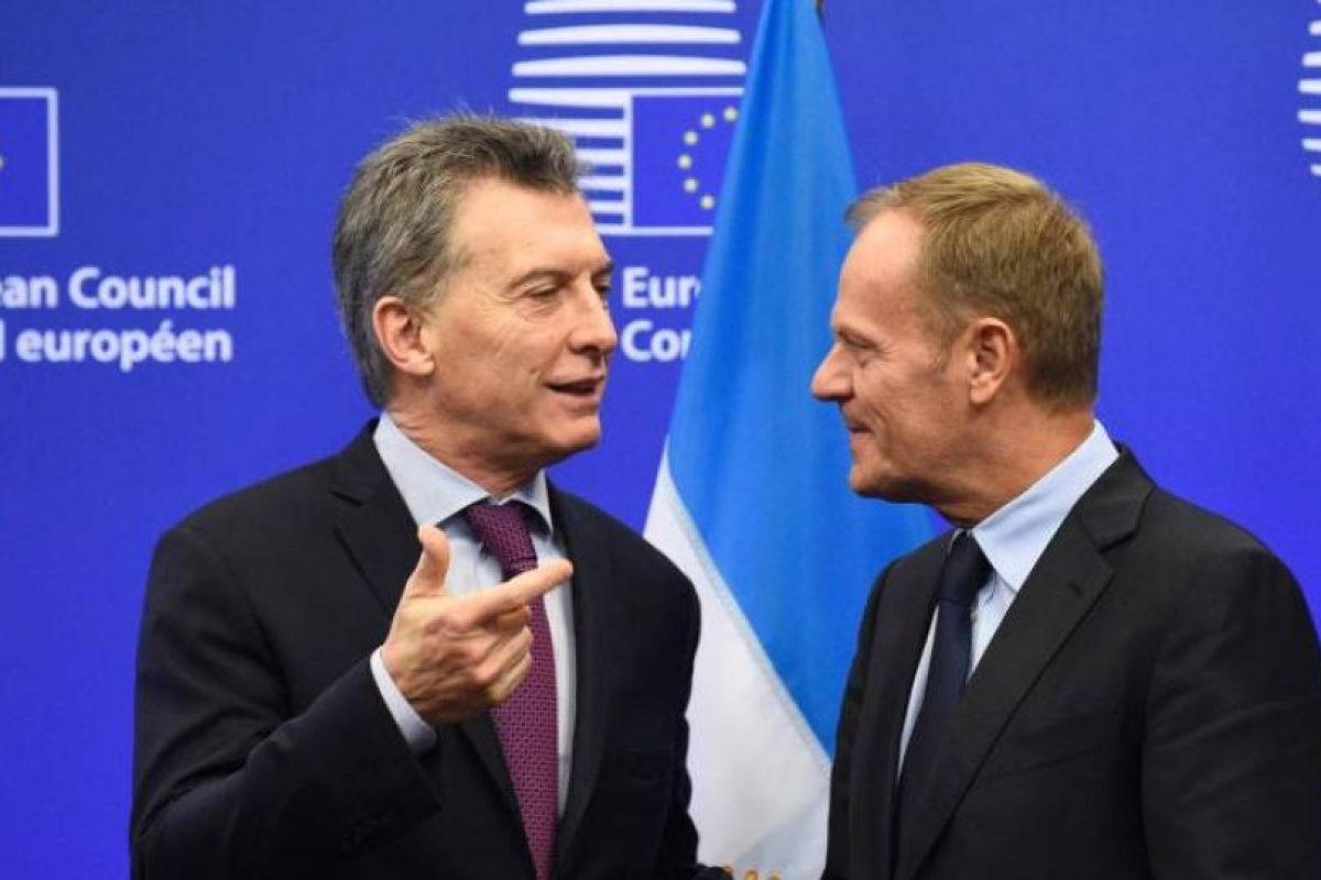 Macri se reunió con el presidente del Consejo Europeo, el polaco Donald Tusk. Foto:AFP. Imagen Por: